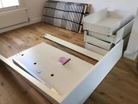 Ikea MALM bed w/ 4 storage boxes and slatted base