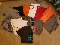 12 men's Hollister large t shirts