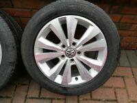 VW Golf OEM Mark 7 Caddy MK7 16 inch alloys with 205/55R16 tyres in Magherafelt £190