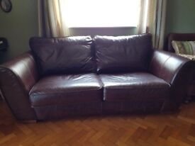 Next leather Sofa 3 & 2 Seater - £550 - Excellent Condition - Cost £2000 New