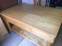 Solid wood work bench / table