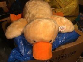 Baby Gund yellow soft plush duckling cuddle toy.