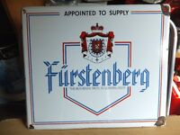 FURSTENBERG original beer enamel heavy advertising sign