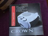 Crown vertical flat 2Kw, adjustable 3 settings versatile heater/cooler,white, modern design, BNIB