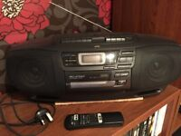 Stereo - JVC RC-X740 CD, Twin Tape Portable Boom Box with Remote For Sale