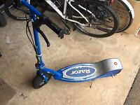 Razor E300 Electric Scooter, Blue, Manual, Charger