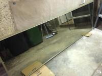 4 x full length sliding wardrobe mirror doors