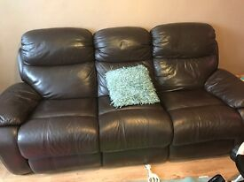 Recliner leather Brown Sofas