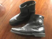 City Limits men's light weight Leather motorbike boots