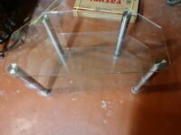 3 Shelve Glass TV Stand