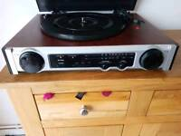 Technosonic MT-PH02 record player with radio with internal speakers