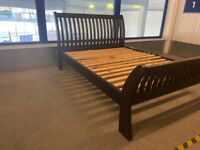 Sleigh Dark King Size Bed, great condition and quality, can deliver