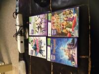 Xbox 360 Kinect with four games