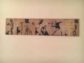 Banksy canvas VGC £7