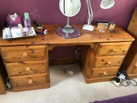 Solid pine Dressing table. Can deliver.