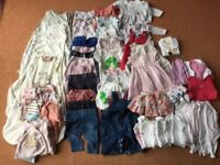 Bundle of girls 0-3 months clothes and grow bags