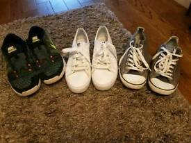 selection of size 8 trainers Nike air Adidas converse