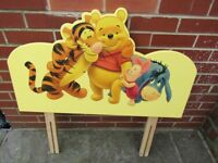 Childs Disney Winnie The Poo Bed Headboard