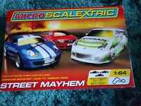 Micro Scalextric. Street Mayhem set.