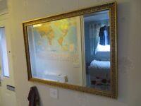 GOLD FRAMED HALL/BEDROOM MIRROR
