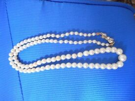 vintage pearls from the 1950 with silver clasp