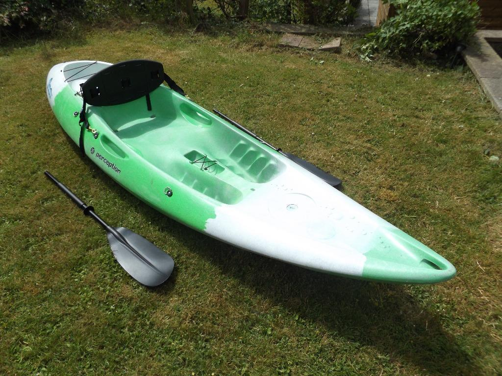 Perception Scooter sit on kayak, New unused 2 piece paddle, New unused deep  backrest | in Bridgend | Gumtree