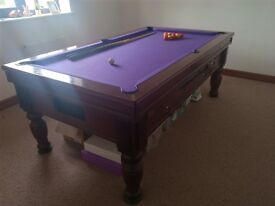 Slate bed 7x4 pool table