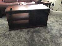 Glass fronted TV cupboard with storage