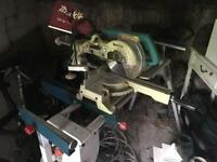 Makita mitre Saw with Bosch sliding bench