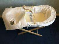 Moses Basket with Stand. Excellent Condition.