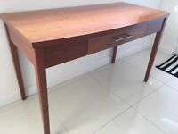 cherry wood desk with centre draw