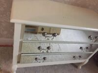 Solid wood with glass front finish draws