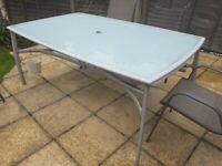 Glass top garden table - free for collection