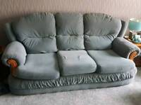 3 piece suite and foot stool