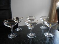 Vintage Retro Babycham Glasses set of 6