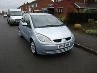2005 MITSUBISHI COLT EQUIPPE BLUE 12 MONTH M.O.T.