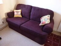 Marks and Spencer aubergine, 3 seater, sofa bed. £200