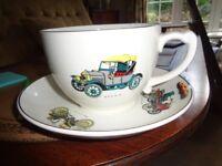 Extra Large Tea Cup and Saucer
