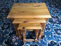 Furlong Furniture Pine Nest Of 3 Table's Set