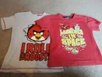 2 x Angry Bird t-shirts 6-7years