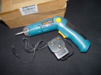 cordless screwdriver - REPAIR or SPARE newwwwww
