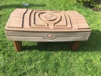 Large treasure chest sand and water pit