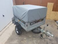 Daxara 107 trailer with high frame and cover and flat cover and jockey wheel and spare wheel