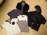 Boys age 6-7 bundle (can be split) 3 polos inc 1 from Bench, 1 cardigan, 1 lined aut/spring jacket