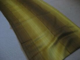 COTTON BROWN & YELLOW LINED PATTERN FABRIC - 15 METERS – NEW