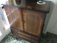 Former tv cabinet .. very attractive double door front