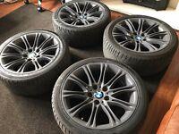 "Refurbished BMW E60 E61 2004-2010 535D Genuine M sport MV2 18"" alloy wheels + run flat tyres"