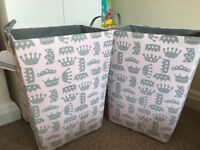 2 Brand new girls storage basket with tags!