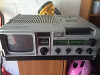 Waltham TV Radio Cassette Recorder, W198, retro, camping, caravaning £10, used for sale  Cornwall