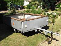 box trailer, mirror dinghy carrier